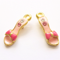 4 Enamel 20mm Shoe Charms